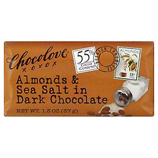 Chocolove Mini Bar Dark Chocolate Almond and Sea Salt,1.3 OZ