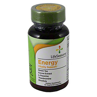 Lifeseasons Energy Vitality Support Vegetarian Capsules, 60 ct