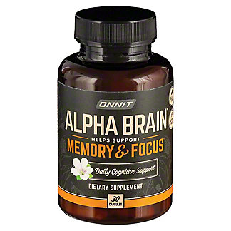 ONNIT Balanced Nootropic With Alpha,30 CAP