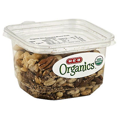H-E-B Organics Dry Roasted Mix Nuts, Unsalted,8.50 oz