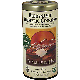 The Republic of Tea Biodynamic Organic Turmeric Cinnamon, 36 CT