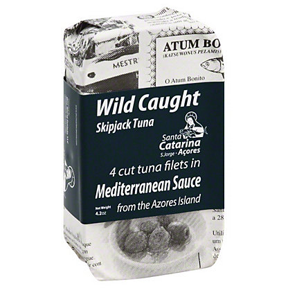 Santa Catarina Wild Caught Skipjack Tuna Filet Mediterranean Sauce, 4 ct