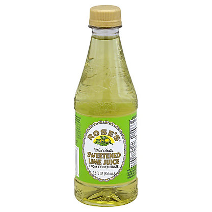 Rose's Sweetened Lime Juice, 12 oz