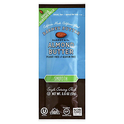 Barney Butter Smooth Almond Butter Single,0.6OZ