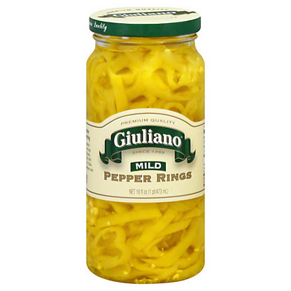 Giuliano Mild Banana Pepper Rings,16OZ