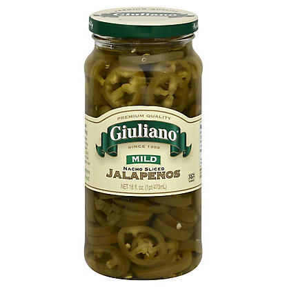 Giuliano Mild Nacho Sliced Jalapenos,16OZ