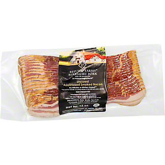 Red Top Farms Berkshire Pork Uncured Applewood Smoked Bacon, 12 oz