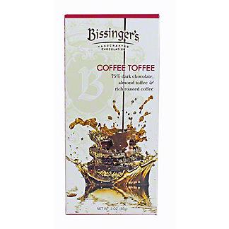 BISSINGERS Bissingers Coffee Toffee Chocolate Bar, 3 oz