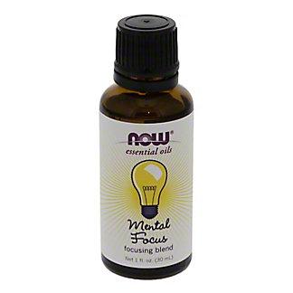 NOW Essential Oils Mental Focus Oil Blend,1 OZ