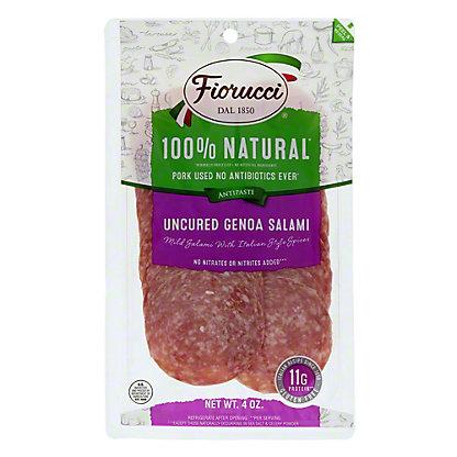 Fiorucci Uncured Genoa Salame, 4 oz