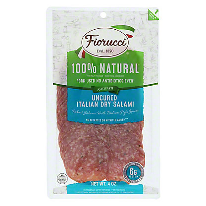 Fiorucci Uncured Italian Dry Salame,4 OZ