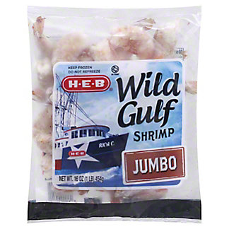 H-E-B Jumbo Raw Wild Gulf Shrimp, 16-25 Count,16 OZ
