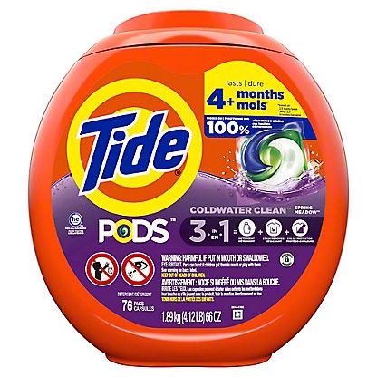 Tide PODS Liquid Detergent Pacs HE Spring Meadow, 81 ct