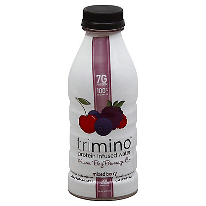 Trimino Protein Infused Water, Mixed Berry,16 OZ