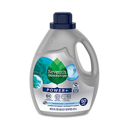 Seventh Generation Free & Clear Ultra Power Plus Laundry Detergent, 54 Loads,95 OZ