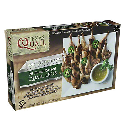 Texas Quail Farms Quail Legs Farm Raised,14OZ