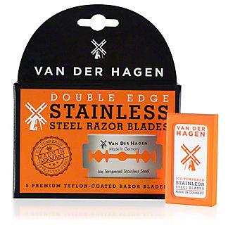 Van Der Hagen Stainless Steel Razor Blades, 5 ct