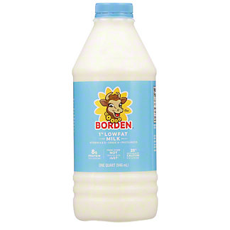 Borden 1% Low Fat Milk,1 qt