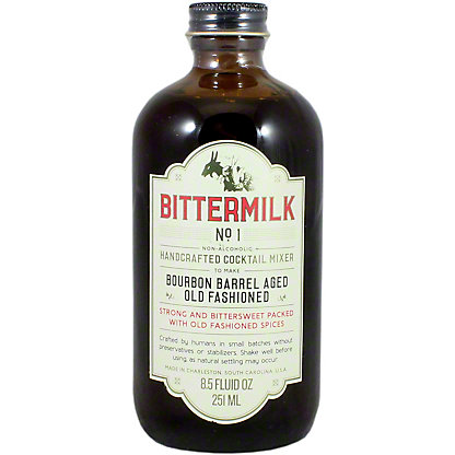 Bittermilk No 1 Bourbon Barrel Aged Old Fashioned Cocktail Mixer,8.5 Z