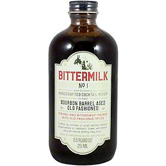 Bittermilk No 1 Bourbon Barrel Aged Old Fashioned Cocktail Mixer,8.5 Z