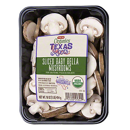 H-E-B Organics Sliced Baby Bella Mushrooms,16 OZ