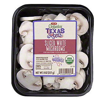 H-E-B Organics Sliced White Mushrooms,8 OZ