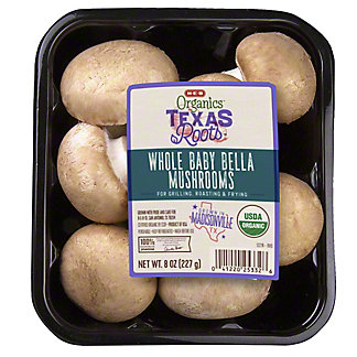 H-E-B Organics Whole Baby Bella Mushrooms, 8 oz