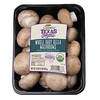 H-E-B Organics Whole Baby Bella Mushrooms,16 OZ