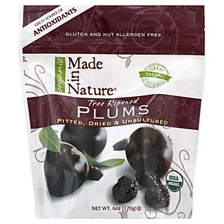 Made in Nature Organic Dried Plums,6 OZ