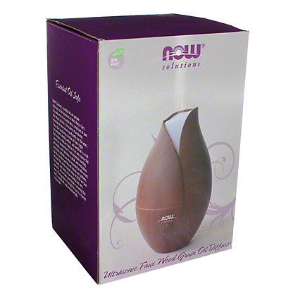 NOW Solutions Ultrasonic Faux Wooden Oil Diffuser, EACH