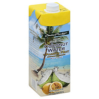 Central Market Passion Fruit Coconut Water,33.8 OZ