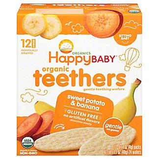 Happy Baby Organics Gentle Teethers Wafers Sweet Potato & Banana,12 ct
