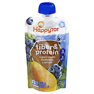 Happy Tot Fiber & Protein Pear Blueberry Spinach Superfood,4 OZ