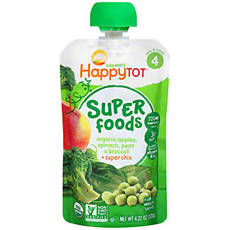 Happy Tot Superfoods Apples, Spinach, Peas & Broccoli,4.22 oz