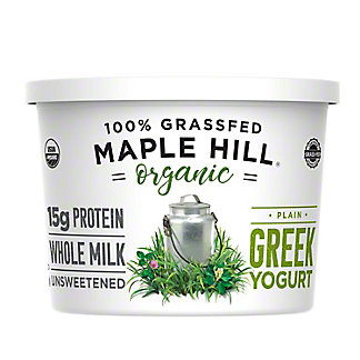 Maple Hill Creamery Plain Grass Fed Greek Yogurt,16OZ