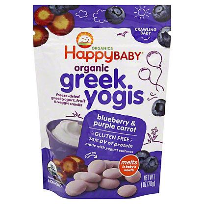 Happy Baby Organics Greek Yogis Snack Blueberry Purple Carrot,1 OZ