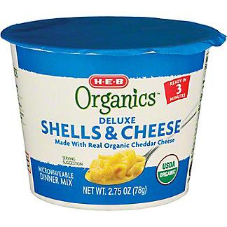 H-E-B Organics Macaroni Shells and Cheese Cups, 2.75 oz