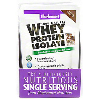 Bluebonnet Whey Protein Isolate - Chocolate, 8 ct