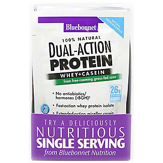 Bluebonnet French Vanilla Dual-Action Protein Whey+Casein, 8 ct