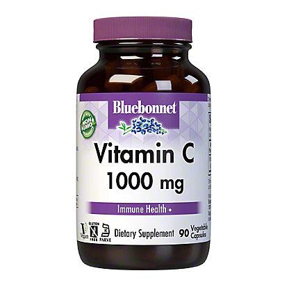 Bluebonnet Vitamin C 1000 MG Vcaps, 90 ct