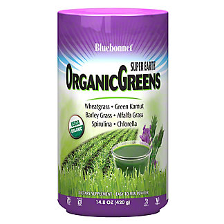 Bluebonnet Se Organic Greens Powder, 14.8 oz