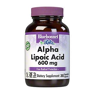 Bluebonnet Alpha Lipoic Acid 600 MG, 30VC