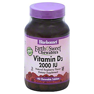 Bluebonnet Earth Sweet Chewable Vitamin D3 2000 IU,90 TAB