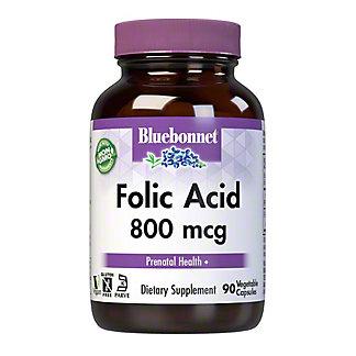 Bluebonnet Folic Acid,90 VC