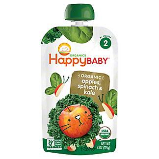 Happy Baby Organics Stage 2 Apple Spinach Kale,3.5 OZ
