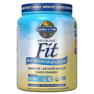 Garden of Life RAW Fit High Protein Powder Vanilla, 15 oz