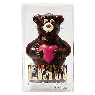 Emvi Dark Chocolate Love Bear, 3 oz