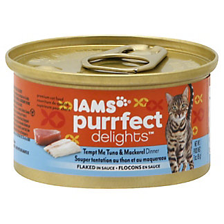 Iams Purrfect Delights Tempt Me Tuna & Mackerel,3 OZ