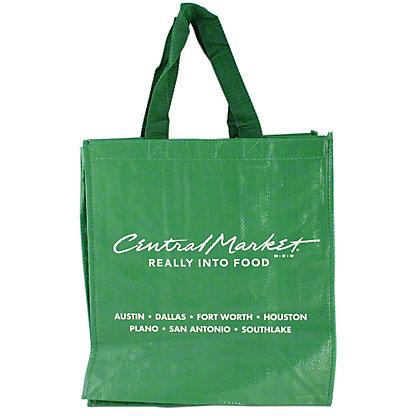 Central Market Green Shopping Bag, ea