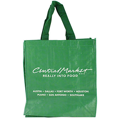 Central Market Green Shopping Bag, ea